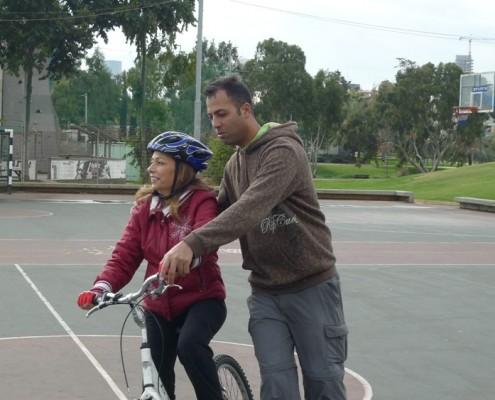 לימוד רכיבה על אופניים למבוגר